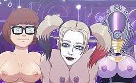 Cartoon big sex crossover (DC, Velma, Mario)