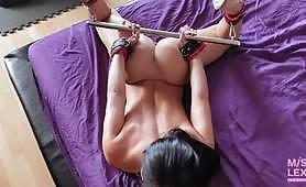 Censored sexy BDSM - mouth gag porn