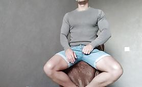 Muscled big cock Russian - amateur sex toy masturbation
