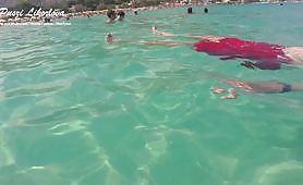 Public handjob by Puszi Likorlova - sex underwater with a Hungarian pornstar