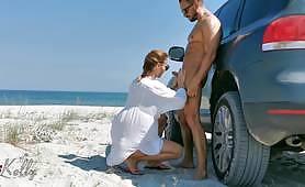 Public beach exhibitionist