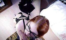 Sexy redhead slut Molly Red Wolf gets fucked in a POV video