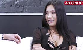 Asian big tit slut is testing her limits by getting her asshole destroyed