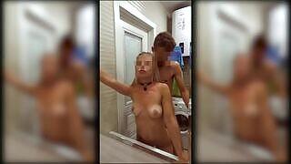 😎 अॅलेक्सिस जेम्सला तिच्या बॉयफ्रेंडने शौचालयात फेकले आणि चोखले